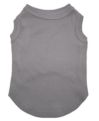 Puppy T-shirt Tee (petitebelle Puppy Kleidung Hund Kleid Uni Grau ärmellos Baumwolle Tee T Shirt)