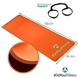 Portable Fitnessmatte »Sharma« / dick und weich, ideal für Pilates, Gymnastik und Yoga, Maße: 183 x 61 x 0,8cm, orange - 4