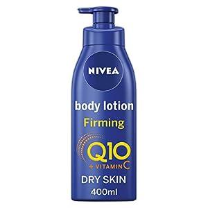 NIVEA Loción reafirmante para el cuerpo Q10, con Vitamina C (400 ml), crema nutritiva reafirmante con Q10 y vitamina C, crema hidratante de NIVEA para una piel suave y firme