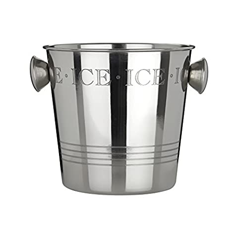 Premier Housewares Bombay Ice Bucket with Handles, Stainless Steel -