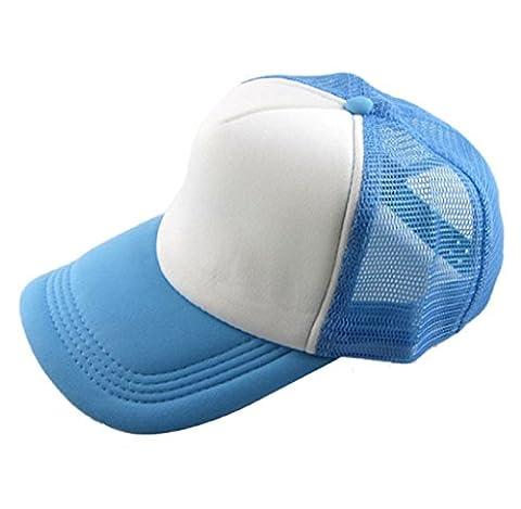 ❀AMUSTER❀,Broderie en coton bonnet de baseball Chapeau plat de hip hop pour garçons et filles Snapback (H)