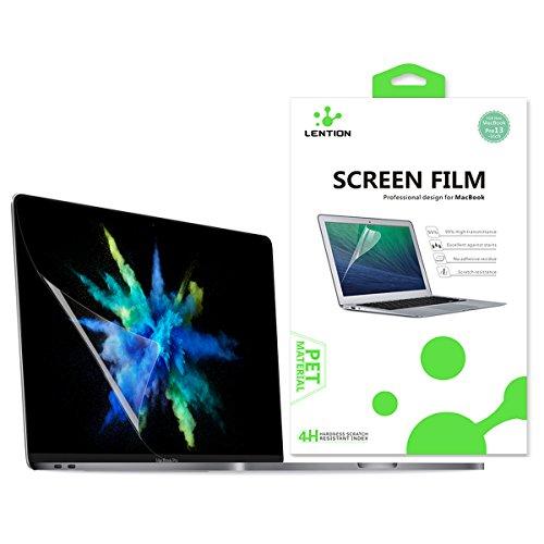 LENTION Protection écran Transparent pour MacBook Pro (13 pouces, 2016-2018, quatre/deux ports Thunderbolt 3) A1706/A1708/A1989, Film de protection HD avec un revêtement hydrophobe et oléophobe