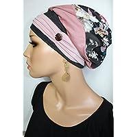 Beanie Mütze Ballonmütze Blumen Herbstlich mit Band little things in life Chemo Cap Hat Chemomütze Mütze bei Krebs Kopfbedeckung Turban