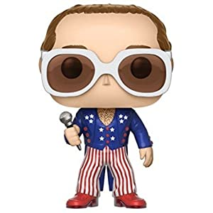 Funko POP Vinyl POP Rocks Elton John RED WHITE BLUE Vinyl Figure
