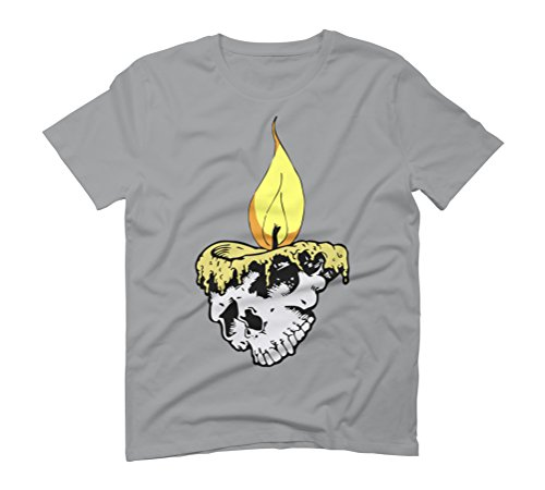 Candle skull Men's Graphic T-Shirt - Design By Humans Opal