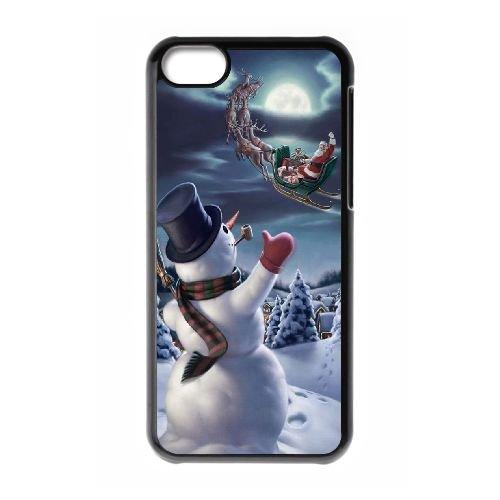 weukk Bonhomme de neige iPhone 5C Cas, Housse étui coque pour iPhone 5C personnalisée Bonhomme de neige, personnalisée Bonhomme de neige