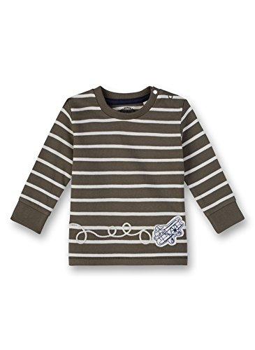 Sanetta Baby-Jungen Shirt Langarmshirt, Grün (Leaf 4392.0), 86