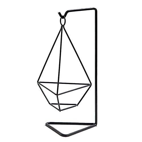 chytaii-Halterung Pflanze Air Halterung für Blumentopf Triangle Tischdekoration aus Metall schwarz -