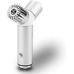 Oscoo - Ionizador purificador de aire para el coche y cargador USB. Ioniza, ambienta y purifica el aire y elimina polvo y olores. Cargador rápido de móviles para el coche