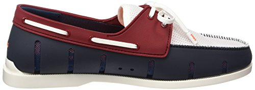 Swims Boat Loafer, Chaussures bateau homme Multicolore - Mehrfarbig (Navy/Red 131)