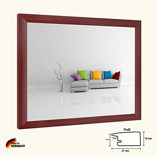 Bilderrahmen Olympia Mahagoni Dekor 50 x 75 cm modern stabil eckig hochwertig preiswert mit klarem Kunstglas