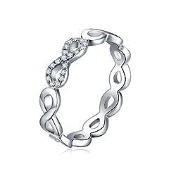 Idea Regalo - JewelryPalace Infinito Eterno Amore Cubic Zirconia Anniversario Promessa Anello 925 Sterling Argento 19.5