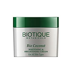 Biotique Bio Coconut Whitening & Brightening Cream For All Skin Types,  50G