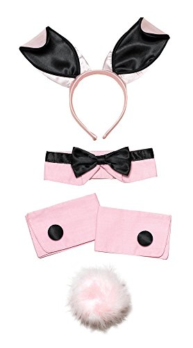 Bristol Novelty ds089 Bunny Girl Set Pink und Schwarz, One ()