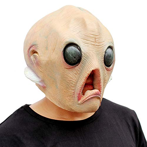 INOOY Neuheit Halloween Kostüm Party Latex Kopf Maske - Alien Halloween Maske - Weihnachten Lustige Form Maske - Party Maske Spiel Funny Party Supplies