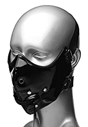 Master Series Black Lektor Zipper Mouth Muzzle