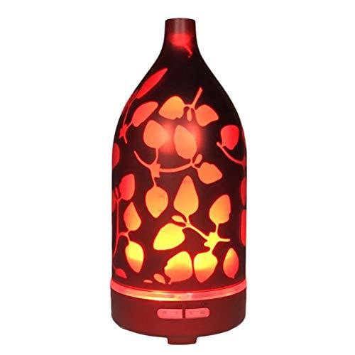 TYUE Diffuseur d'huile Essentielle, 120ml humidificateur d'huile d'aromathérapie ultrasonique avec Effet 3D Unique Nuit lumière 12 Couleur d'éclairage sans Eau Auto-Off pour Home Office Spa Yoga