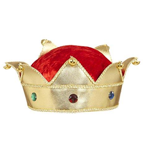 Kostüm König Dress Kind Fancy - WIDMANN King & Queen Kronen mit Schmucksteinen, Zubehör für mittelalterliche Königskostüme