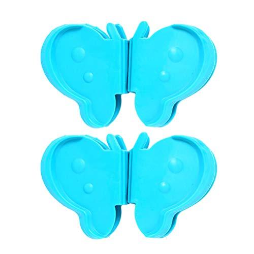BESTONZON 1 para Butterfly Silikon-Topflappen Anti-Verbrühung Hitzebeständigkeit zum Greifen heißer Ofenplatten in der Küche (Hellblau) -