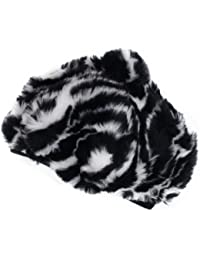 Mud Pie Baby Girls' Zebra Faux Fur Beret, Multi, One Size