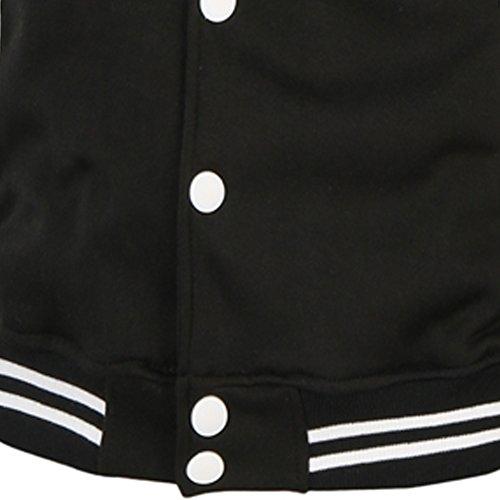 PIZZ ANNU Dragon Ball Z Son Goku Wu Wort Baseball Uniform Jacke Sweater Coat Schwarz&Weiß