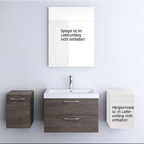 Meuble de salle de bains ensemble de 3-pièces, meuble sous vasque , vasque 76,5cm et rangements complémentaires gauche Bavaria