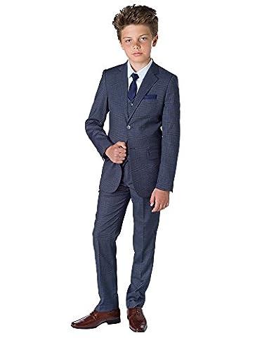 Paisley of London - Costume - Garçon gris Gris à carreaux 9 ans