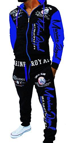 Unbekannt Herren Fitness Jogginganzug Sportanzug Trainingsanzug ARMS XXL Schwarz-Blau