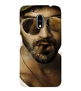 Motorola Moto G4 Plus man, man with cigar, man with hat Designer Printed High Quality Smooth hard plastic Protective Mobile Case Back Pouch Cover by Paresha