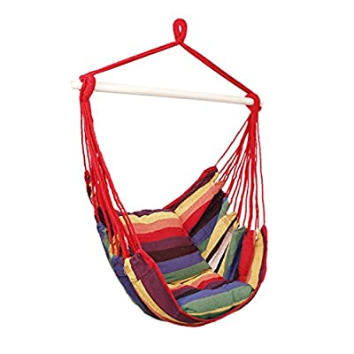 Holifine Swing Hängesessel mit Querholz Garten Hängesitz Hängestuhl Hängeschaukel von WillGou auf Gartenmöbel von Du und Dein Garten