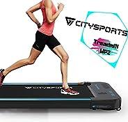CITYSPORTS Cinta de Correr Caminar Eléctrica Motor 440W, Altavoces Bluetooth, Velocidad Ajustable, Pantalla LC