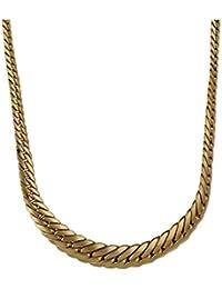 80adc874af9214 Collana girocollo groumette piatta a scalare in oro giallo 18kt