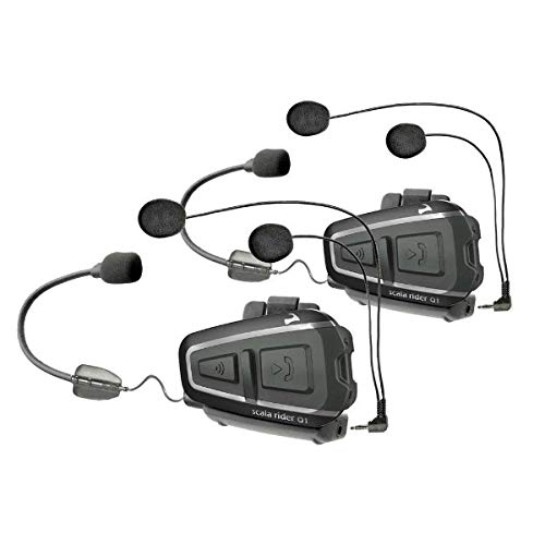 Cardo Scala Rider Q1Teamset para Moto Casco de Bluetooth-btsrq1t-btsrq1t