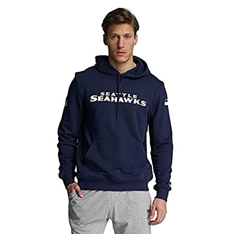 New Era Men Overwear / Hoodie Team App Seattle Seahawks blue L
