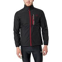 Ultrasport Hannes Softshell Giacca da Uomo Leggera, Black/Red, XL