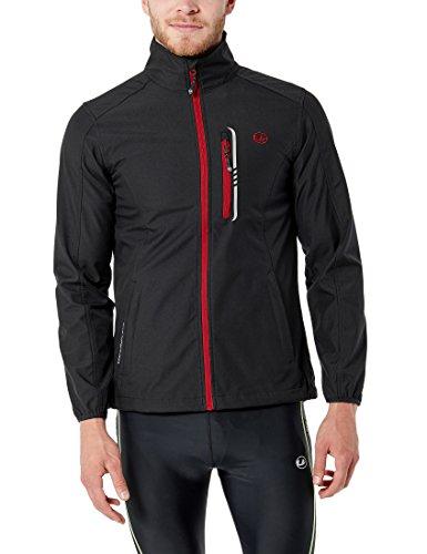 Ultrasport hannes softshell giacca da uomo leggera, black/red, m