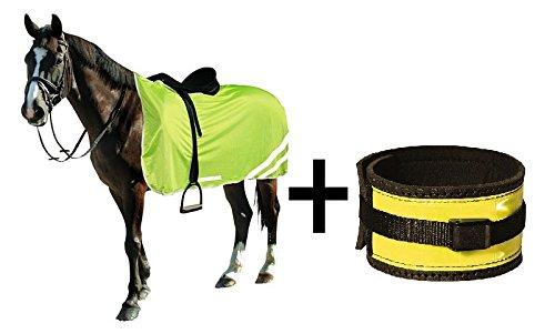 Sicherheitset Pferd, Leuchtgamaschen und Reflex-Sicherheitsdecke 135 cm