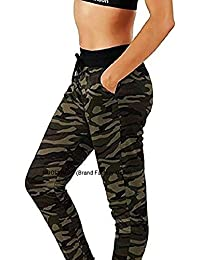 Rooliums (Brand Factory Outlet Army Track Pants, Army Joggers for Women, Army Track Lower for Sports Gym Athletic Training Workout - Free Size