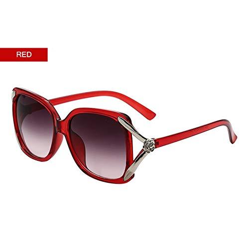 Lafeil Sonnenbrille Im Sommer Damen Sonnenbrille Fahrradbrille Dunkel Rot