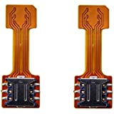 Hybrid Sim Slot Adapter to Run 2 Sim and Micro SD Card for Huawei Honor 7X - Pack of 2