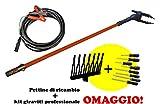 Raccogli olive abbacchiatore elettrico potenza 140w voltaggio 12v con asta allungabile fino 3 mt cavo 10mt montato con asta 15mt United Trade + Pettine omaggio + set cacciaviti 8 pz. omaggio
