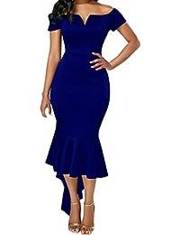 LILICAT Vintage Kleid Lang Elegant Abendkleider Cocktailkleid Festlich  Partykleid Ballkleid Rockabilly 50s Retro Damen Etuikleider Maxikleid 2b740dffda