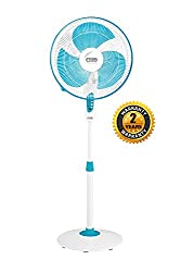 V-Guard Finesta STS 400mm 1350 RPM Pedestal Fan(White Blue) (2 Year Warranty)