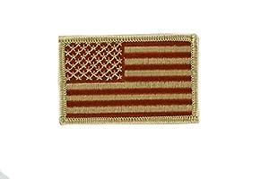 Patch ecusson brode thermocollant drapeau usa etats unis americain camo airsoft