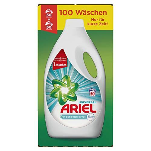 Ariel Universal Flüssigwaschmittel mit der Frische von Febreze 5.5l, 100 Waschladungen