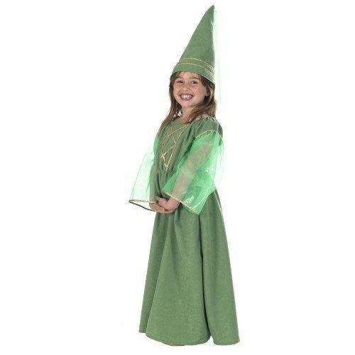 Kinder Mädchen Mittelalter Maid Marion Robin-Hood-Kostüm Outfit 8-9-10 Jahre (Maid Marion Kostüm Kostüm)