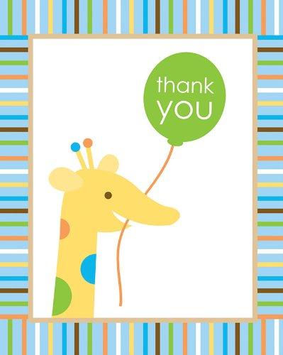 Creative convertir Sweet à un garçon Thank You Notes, 8 Count