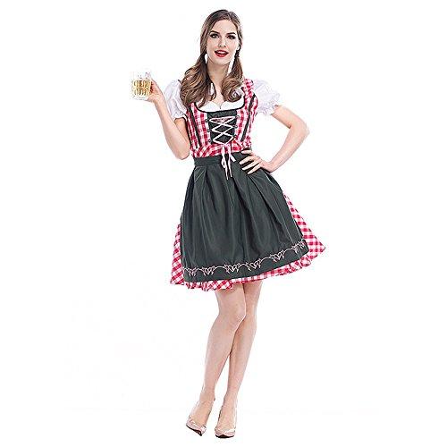 D_HOME Deutsches Oktoberfest-Bayerisches traditionelles Bier-Festival-Partei-Tanz-Kleid (größe : ()