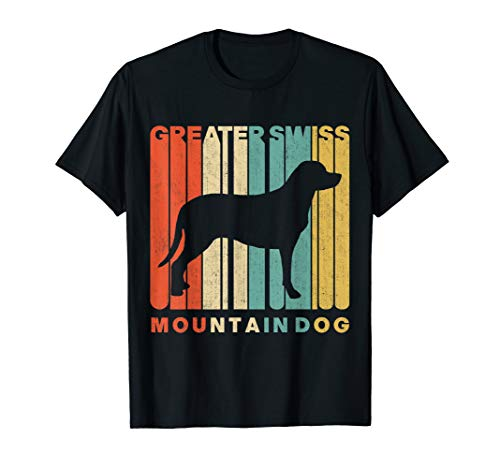 Vintage Retro Greater Swiss Mountain Dog Silhouette T-Shirt -
