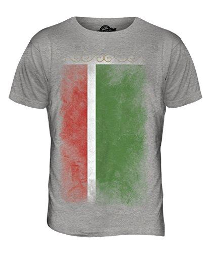 CandyMix Tschetschenien Verblichen Flagge Herren T Shirt Grau Meliert